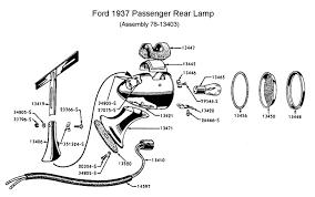 flathead electrical wiring diagrams rear lamp for 1937 car