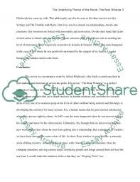 the underlying theme of the movie the rear window essay  rear window essay example text preview
