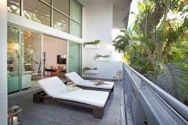 modern balcony furniture. Modern Balconies Interior Design Ideas. Sunbeds In The Eco Designed Loggia Balcony Furniture R