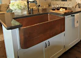 image of hammered copper farmhouse sink