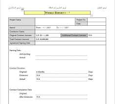 Weekly Report Template Doc Engineering Management