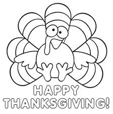 Thanksgiving Coloring Pages Cute Turkey Crafts Happy