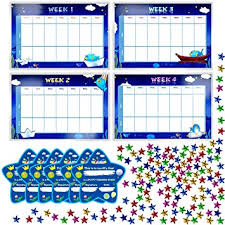 Potty Training Reward Chart With 4x Waterproof Weekly Charts 6x Diploma 600x Colorful Stars