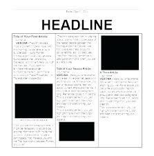 Magazine Article Format Template Sports Article Template 8 Newspaper Headline For Word Free