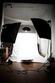 studio setup with softbox