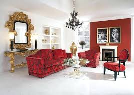 mirror effect furniture. Mirror Living Room Furniture With Red Floral Leather Sofa And Artistic Gold Wall . Effect L