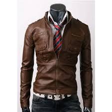 zip pocket slim fit leather jacket