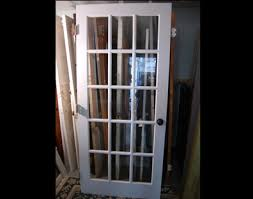 vintage french door painted both sides 36 x79 1 4 x1 3 8 good condition 3 5 glass panes includes hardware 175