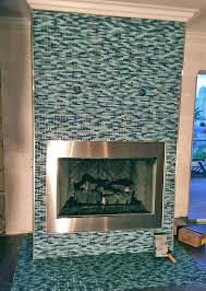 impressive glass tile fireplace 27 glass tile fireplace photos work in progress on