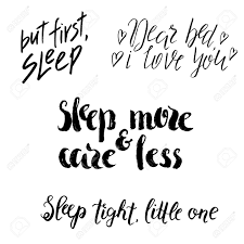 Set Of Sleep Lettering Hand Drawn Quotes World Sleep Day Design