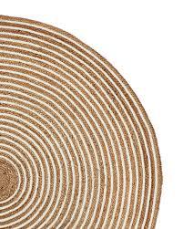 round cotton jute rug