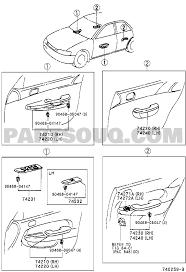 Toyota parts diagram luxury armrest visor body group ae111r almdkq corolla lb