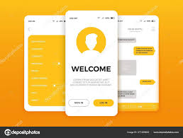 Design Of Screen Mobile App User Interface Screen Design Mobile Ui Kit With