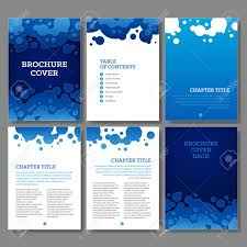 Brochure Cover Pages Cover Table Of Contents And 3 Internal Pages Blue Water Drops