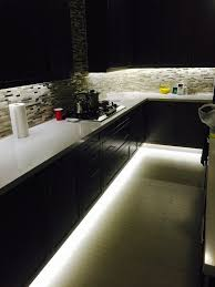 under cabinet and footwell led strip lighting also counter top receptacles