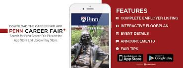 career services at the university of pennsylvania career fair plus app information