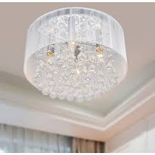 silver orchid taylor 4 light chrome and white crystal chandelier intended for most up to date