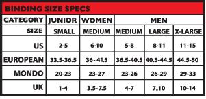 23 Experienced Burton Womens Bindings Size Chart