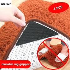 rug grippers silicone reusable carpet non slip fixed mat paste anti skid for carpeted floors rug grippers