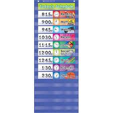 Walmart Time Clock Chart Teachers Friend Tf 5102 Daily Schedule Pocket Chart Gr K 5