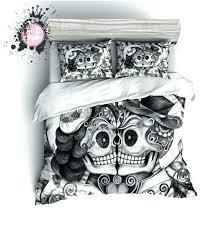 skull and crossbones bedding skull bedding king size medium size of comforters skull comforter queen unique
