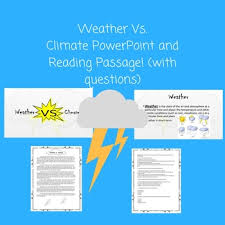 Differences Between Weather And Climate Venn Diagram Weather Vs Climate Teaching Resources Teachers Pay Teachers