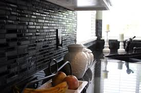 black wall tile