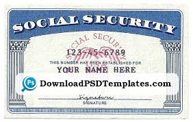 Social Applycard Security Psd Card co Template