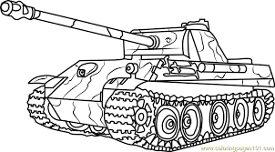 Small Picture German Panther Army Tank Coloring Page Free Tanks Coloring Pages