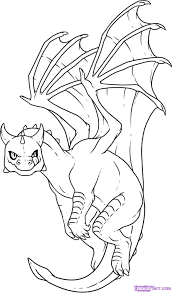 Cute Baby Dragon Coloring Pages Free Printable For Kids Lettas