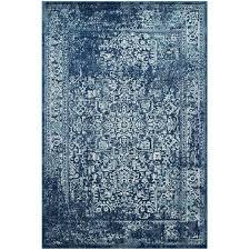 safavieh evoke 6 7 x 9 power loomed rug in navy and ivory