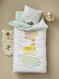 bedding child s bedding children s duvet cover pillowcase set miss giraffe theme