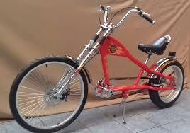 rosetta sport la bicycle lowrider red mo chopper bike harley cycle