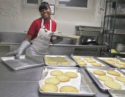 angel is a job title at this cookie bakery that employs st louis annitta frost 17 says she loves her job the cookies are baked in convection ovens in the kitchen of saint teresa and bridget catholic church