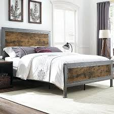 iron bedroom furniture sets. Metal Bedroom Furniture Queen Bed Industrial Brown Wood And Modern Sets Iron
