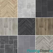 details about 4mm thick quality vinyl flooring kitchen bathroom lino tile oak chevron 2 3 4m
