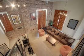 polished concrete floor loft. End Unit In City Space Lofts Featuring Exposed Brick, Soaring Ceilings, Beams, Polished Concrete Floors, Lofted Bedroom, Balcony With Spiral Floor Loft S