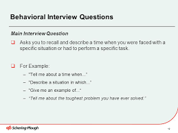 Examples Of Behavioral Interview Questions Interview Skills Training Ppt Download