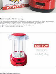 Đèn sạc chiếu sáng khẩn cấp Kentom KT 3200PL cao cấp (Đỏ)