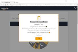 1000 amazon gift card is reserved for you pop up scam