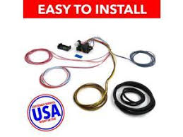usa wire harness saq232146 18 circuit universal wire harness xy dune JEGS Electric Fan at Universal Wiring Harness Kit Dune Buggies