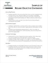 Objective Statements For Resumes Examples Objective Statement For New Objective Statement Resume Examples