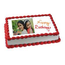 Happy Birthday Photo Cake 2kg Flowerscakesonlinecom