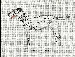 dog chart dalmatian dog cross stitch pattern chart from a magazine