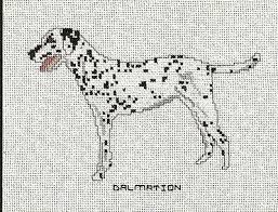 Dog Chart Dalmatian Dog Cross Stitch Pattern Chart From A Magazine