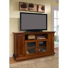furniture brown oak tv cabinet with doors and glass doors on the floor connected by
