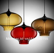 colorful glass pendant lamps retro aurora ceiling hanging pendant lights dining room bar lighting fixture no 6