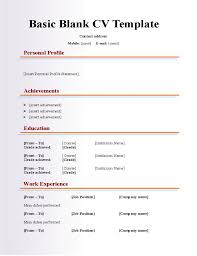 Cv Resume Format Download Beauteous Resume Templates Blank Engneeuforicco