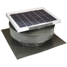 active ventilation 365 cfm black powder coated 5 watt solar powered roof mounted exhaust attic fan rbsf 8 bl the home depot