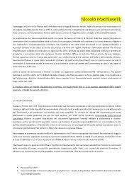 Niccolò Machiavelli Riassunto libro Giulio Ferroni - Docsity